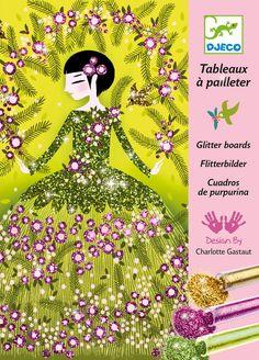 DJ9500 - Dresses Glitter Boards by Djeco. Distributed by Kaleidoscope
