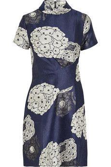 Michael van der Ham Silk-jacquard mini dress   NET-A-PORTER