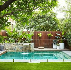 landscape design swimming pool garden landscaping ideas for small backyard pictures designs at the in large.landscape design swimming pool garden furniture glamorous designs with… Small Swimming Pools, Backyard Pool Designs, Small Backyard Gardens, Small Backyard Landscaping, Small Pools, Swimming Pool Designs, Landscaping Ideas, Small Pool Backyard, Landscaping Software
