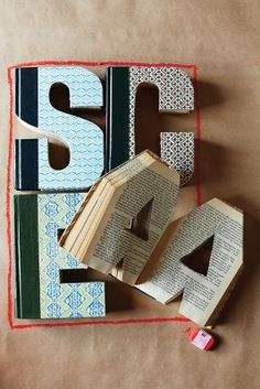 Library Letters - cute decor
