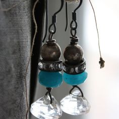 Reflecting Pools Vintage Assemblage Earrings by AgeBeforeBeauty