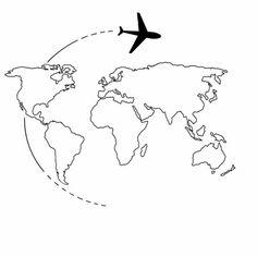 Tattoo de Viajante - - - travel the world - World Map Sticker, World Map Wallpaper, World Map Wall Art, Watercolor World Map, Karten Tattoos, World Map Tattoos, Globe Tattoos, Wall Collage, Easy Drawings