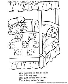 The Night Before Christmas Coloring pages Not a creature was