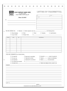 240 letter of transmittal form general contractor forms more