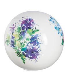 Watercolor Floral Bouquet Ceramic Orb