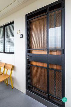 Iron door design modern Ideas for 2019 Door Grill, Grill Door Design, Door Gate Design, Main Door Design, Window Grill Design Modern, Grill Gate, Door And Window Design, Balcony Grill Design, Entrance Design