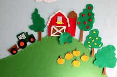 This made such a cute page in my busy book!  I attached the tractor to a ribbon, so it moves up and down the hill.