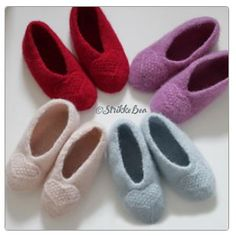 Bundles: Tøfler by StrikkeBea Twists, Slippers, Knitting, Pattern, Baby, Chunky Twists, Tricot, Breien, Patterns
