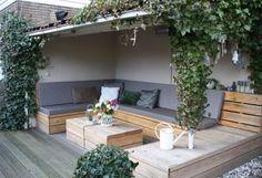 L-Shaped built-in Sofa into Deck via VT Wonen I Gardenista