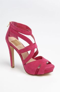 punch colored suede sandals