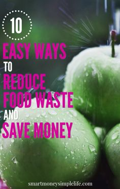 One third of all food grown in the world is wasted. That means the average person who spends $100 on groceries, ends up throwing away over $30 of food.   You can reduce food waste and save money with these easy tips.