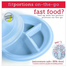 don't worry about portion distortion with our fitportions food plate