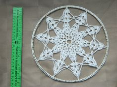 Crochet Window Hanging/Suncatcher on Brass Ring; Handmade
