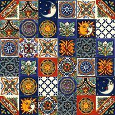 Płytki Meksykańskie - Galeria projektów Bunt, Quilts, Blanket, Php, Scrappy Quilts, Tiles, Diy Bathroom Tiling, Tiling, Mexico