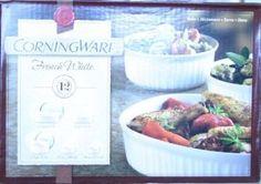 Amazon.com: CorningWare French White 12 piece set: Kitchen & Dining