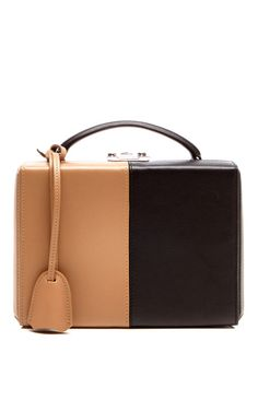 Small Bi-Color Black And Sand Top Handle Trunk by Mark Cross Fall-Winter 2014 (=)