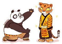 dreamworks, gif, and kung fu panda image Tigress Kung Fu Panda, Po Kung Fu Panda, Po And Tigress, Dreamworks Animation, Disney And Dreamworks, Disney Animation, Disney Pixar, Panda Drawing, Panda Art