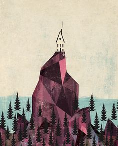 """Cliff House"" by Andrew Bannecker- inspired by Maine."