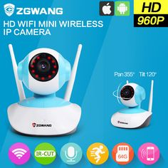 ZGWANG Wireless IP Camera WiFi 1.3MP k6 960P Security Network outdoor CCTV Camera Night Vision Onvif P2P Wi-Fi Camera Home ** AliExpress Affiliate's Pin.  Click the image to visit the AliExpress website
