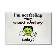 not social-workey Rectangle Magnet Not Social-Workey Today Rectangle Magnet by Keep Walking - CafePress Social Work Quotes, Social Work Humor, Work Gifts, Busy At Work, My Job, Quotes To Live By, Haha, Funny Quotes, Feelings