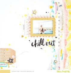 Chill Out. by ScatteredConfetti at Studio Calico Scrapbooking Layouts, Scrapbook Paper, Baby Scrapbook, Bridal Shower Scrapbook, Wedding Thanks, Baby Memories, Crate Paper, Jewelry Polishing Cloth, Studio Calico