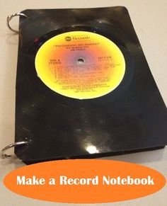 Tutorial: Turn a Vinyl Record Into a Unique Notebook