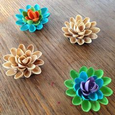 Craft work with pista shells pista shell flower for Craft work best out of waste
