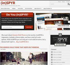 Genesis inSPYR theme via www.saraharrow.co.uk comments