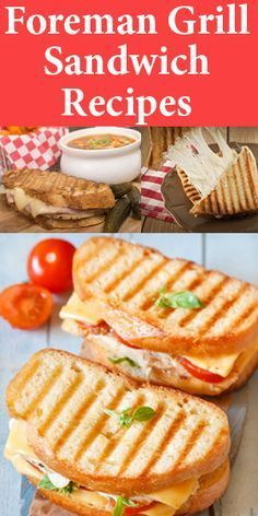Delicious Foreman Grill Sandwich & Panini Recipes - Indoor Grill - Ideas of Indoor Grill - Your George Foreman Grill can make awesome grilled sandwiches too! Turn ordinary into extraordinary with these delicious grilled sandwich recipes! Grill Sandwich, Grilled Sandwich Recipe, Panini Recipes, Panini Sandwiches, Soup And Sandwich, Grilling Recipes, Cooking Recipes, Grill Panini, Speggetti Recipes