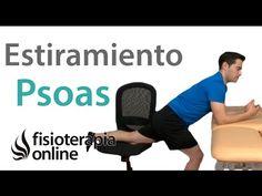 Estiramiento del psoas-iliaco para el dolor de espalda/lumbar - YouTube