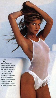 Stephanie Seymour ~ SI 1989 SALT inspo www.the-saltstore.com @salt_store #saltbodystore