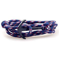 sweetie 8 unisex mens womens black anchor nautical rope wrap bracelet trust me