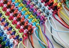 moss stitch pic 1 Tutorial for Crochet, Knitting, Crafts.....Keka❤❤❤