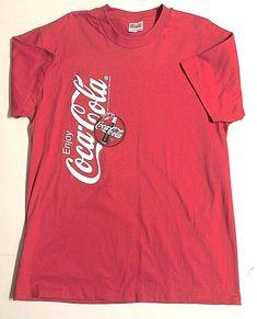 79f7fc0a0148 Graphic Tee T-Shirt Enjoy COCA COLA Logo Red 1998 Hanes Mens L | eBay