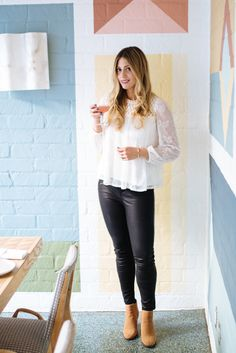 Image Via: Devon Rachel in the Embroidered Lace Peasant Blouse