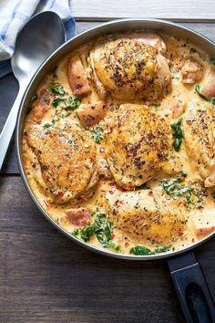 Cream Sauce For Chicken, Parmesan Cream Sauce, One Pan Chicken, Creamy Chicken, Baked Chicken, Smothered Chicken, Baked Pork, Grilled Chicken, Sauce Recipes
