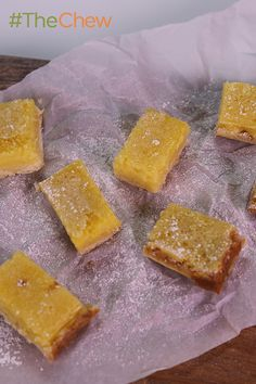 Lightened Up Lemon Squares by Clinton Kelly! These little bites of heaven will prevent all the sour faces at your next party. #TheChew
