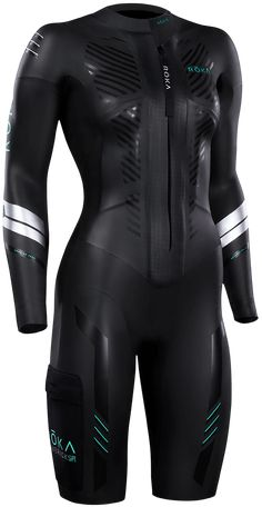 ROKA's new Maverick Swimrun Wetsuit features a front zip pattern, run-specific crotch design to reduce rubbing and perfectly placed internal and external pockets. Raver Girl, Punk Girls, Gothic Girls, Girl Fashion, Womens Fashion, Fashion Design, Steampunk Fashion, Gothic Fashion, Chest Workout Women