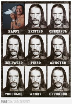 Danny Trejo's faces