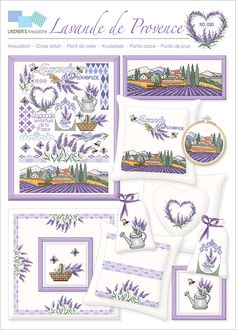 Lavender Cottage, Lavender Bags, Cross Stitch Boards, Cross Stitch Heart, La Provence France, Diy And Crafts, Paper Crafts, Cross Stitch Collection, Cross Stitching