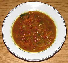 Indische Bruine Bonensoep, een gerecht uit Indonesië bereid door de Happy Chief Cook.