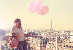 Parisian rooftop with Rose handbag   Shop it here : http://sabrinaparis.fr/product.php?id_product=177
