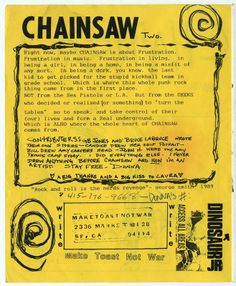 Make Toast, Not War - Chainsaw, the iconic queer-girl zine