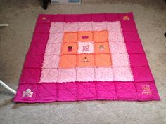 Princess baby quilt, For this child we have prayed