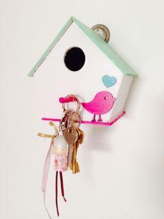 Casa pajaritos porta llaves - Soñarte Deco (Facebook)