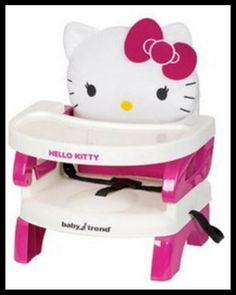 Hello Kitty Baby Trend Toddler Booster Seat High Chair Kids Safety Feeding Tray for sale online Hello Kitty Nursery, Bolo Hello Kitty, Hello Kitty Baby Stuff, Baby Kitty, Best Booster Seats, Portable High Chairs, Toddler Chair, Toddler Toys, Toddler Girl