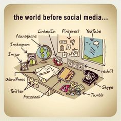 The world before social media - sometimes it's hard to remember what it was like, wow.