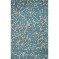 A gorgeous floral design in vivid blue and silver, the Jaipur En Casa by Luli Sanchez Hand-Tufted Swirls Area Rug - Silver/Capri will create a fashionable. Nautical Rugs, Coastal Area Rugs, Blue Couches, Target Rug, Jaipur Rugs, Cheap Rugs, Beach Cottage Decor, Coastal Decor, Hand Tufted Rugs