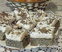 Fincsi receptek: Mákos sütemények Krispie Treats, Rice Krispies, Hungarian Recipes, Hungarian Food, Tiramisu, Poppies, Ethnic Recipes, Hungarian Cuisine, Poppy