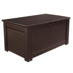 Something like this in a grey-ish tone to contain all of Stella's outdoor stuff. Rubbermaid - Storage Bench - 12.5 Cubic Feet - 1876522 - Home Depot Canada